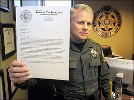 Sheriff Mueller w Letter to Vice President on 2nd Amendment